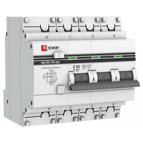 Дифференциальный автомат EKF автомат ekf mcb4763 6 3 32c pro