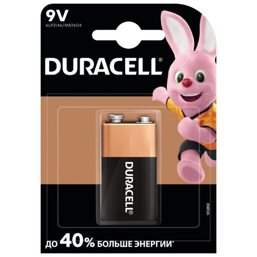 Фото - Батарейка Duracell Basic 9V Крона шумовка attribute basic