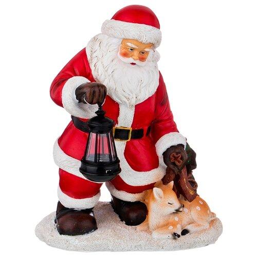 Фигурка Lefard Санта и олененок статуэтки и фигурки lefard фигурка сова 8х9х11 см