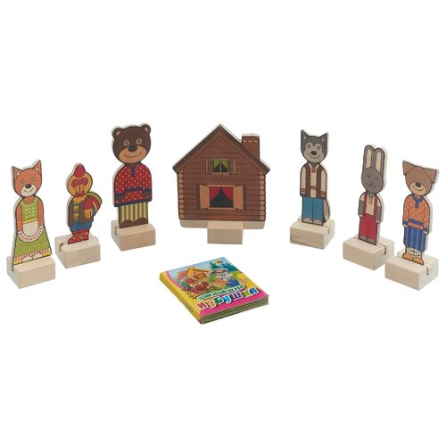 Краснокамская игрушка Кукольный краснокамская игрушка кукольный театр из дерева репка н 19