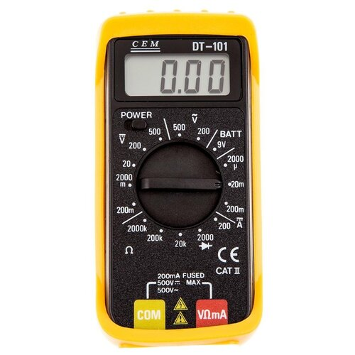 Мультиметр CEM DT-101 мультиметр карманный cem dt 101