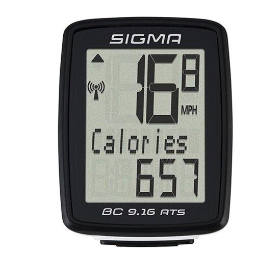 Велокомпьютер SIGMA BC 9.16 ATS велокомпьютер sigma bc 16 16 sts cad беспроводной 16 функций датчик каденса 01618
