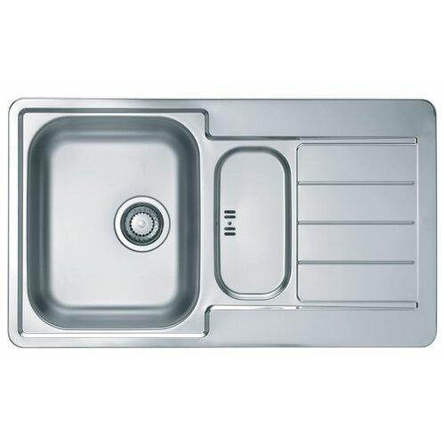 Интегрированная кухонная мойка бра riforma shape 8714 3 8714 1 bk cr e14 170х120х275 черный
