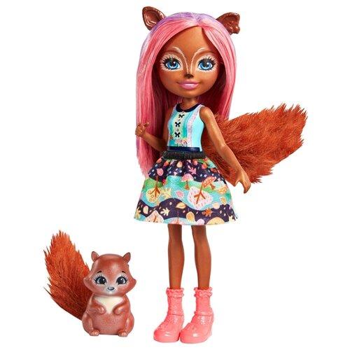 Кукла Enchantimals Санча Белка кукла enchantimals кукла с питомцем fnh22 пики попугай