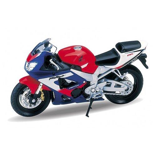 Мотоцикл Welly Honda CBR900RR welly мотоцикл honda hornet