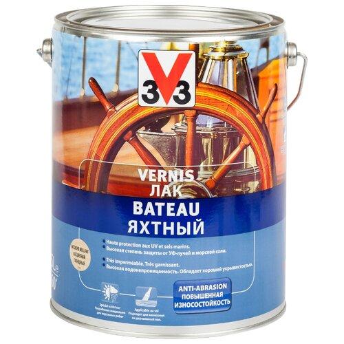Лак яхтный V33 Vernis Bateau лак яхтный v33 глянцевый цвет прозрачный 0 75 л