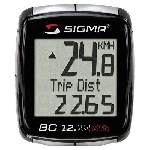 Велокомпьютер SIGMA BC 12.12 STS велокомпьютер sigma bc 16 16 sts cad беспроводной 16 функций датчик каденса 01618