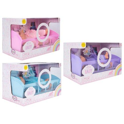 Пупс Игруша с кроваткой 27 см пупс игруша со стульчиком для