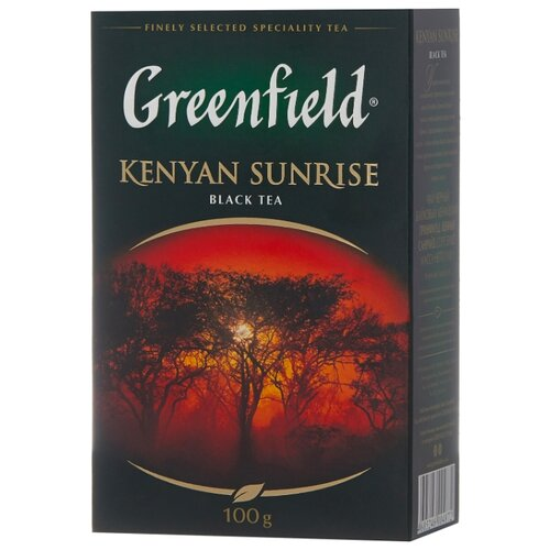 Чай черный Greenfield Kenyan greenfield english edition черный листовой чай 100 г