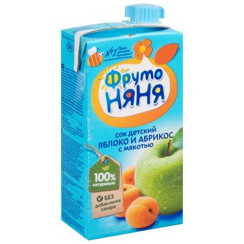 Сок ФрутоНяня Яблоко и абрикос нектар прогресс фрутоняня малышам яблоко и черная смородина с 5 мес 200 мл