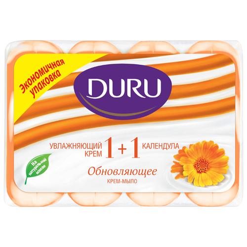 Крем-мыло кусковое DURU Soft мыло duru soft sens зелёный чай 4шт 90г