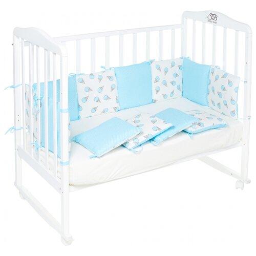 SWEET BABY бортики-подушки Gelato постельные принадлежности sweet baby бортики sweet baby gelato turchese 12 пр голубые