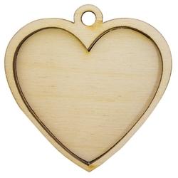 Astra & Craft Деревянная заготовка для декорирования Медальон сердечко L-323