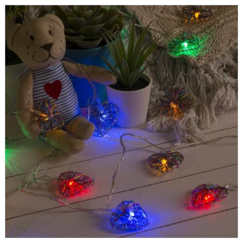 Гирлянда Luazon Сердце гирлянда светодиодная luazon конский хвост цвет фиолетовый 225 ламп 8 режимов 12 v 15 нитей длина 1 5 м 1080614