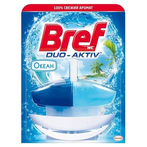 Bref туалетный блок Duo-Aktiv чистящее средство для унитаза bref aquamarine aktiv океанский бриз 50 г