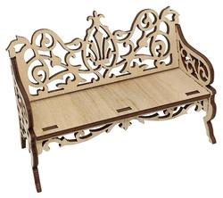 Astra & Craft Деревянная заготовка для декорирования Диванчик резной L-661