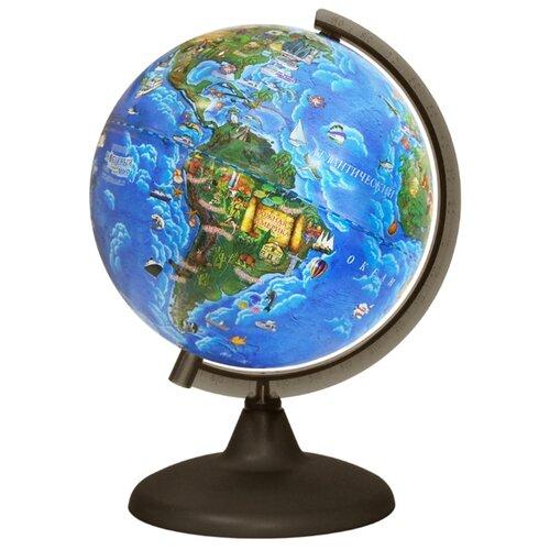 Глобус Глобусный мир Детский глобус глобусный мир 10406 с физической картой мира с подставкой синий диаметр 64 см