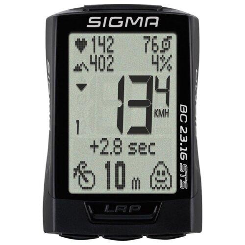 Велокомпьютер SIGMA BC 23.16 STS велокомпьютер sigma bc 16 16 sts cad беспроводной 16 функций датчик каденса 01618