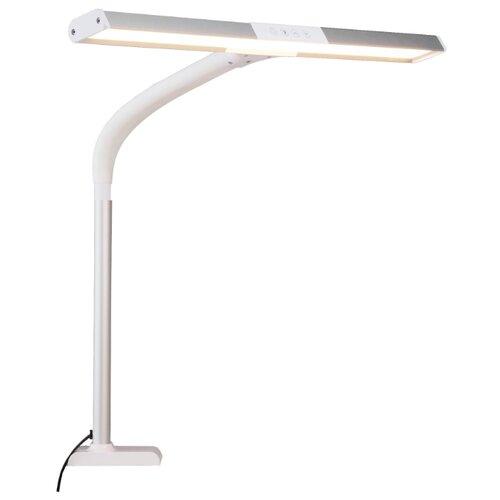 Настольная лампа на струбцине настольная лампа rexant лампа лупа на струбцине круглая 5d с крышкой белая