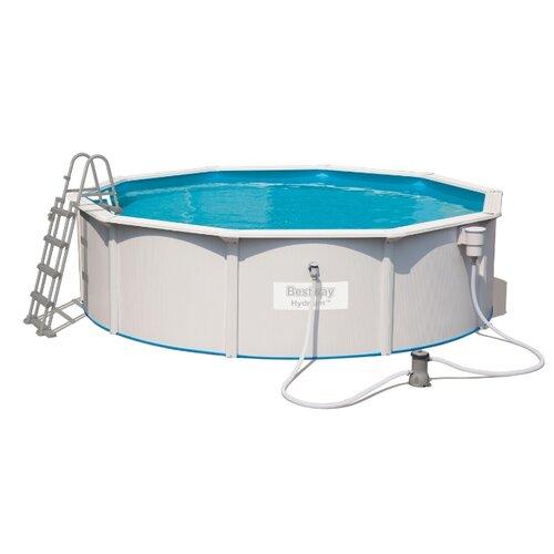 Бассейн Bestway Hydrium с бассейн bestway 57265 с надувным бортом 244х66см 2300л