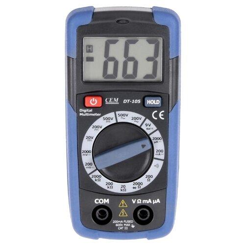 Мультиметр CEM DT-105 мультиметр карманный cem dt 101