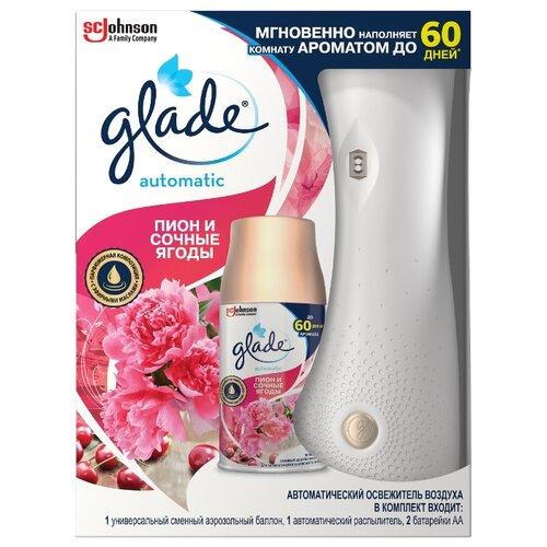 Фото - Glade Аэрозоль Пион и сочные освежитель воздуха glade пион и сочные ягоды 300 мл