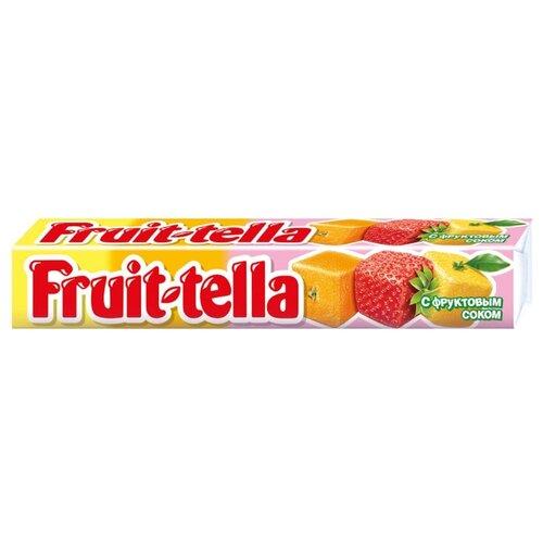 Жевательные конфеты Fruit-tella haribo miami жевательные конфеты 1 125 кг