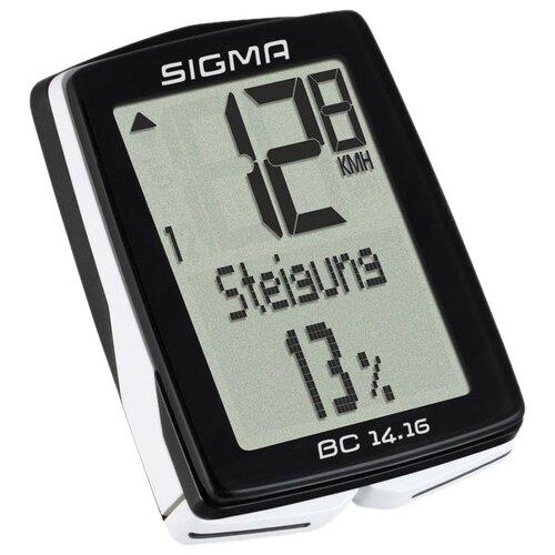 Велокомпьютер SIGMA BC 14.16 велокомпьютер sigma bc 16 16 sts cad беспроводной 16 функций датчик каденса 01618