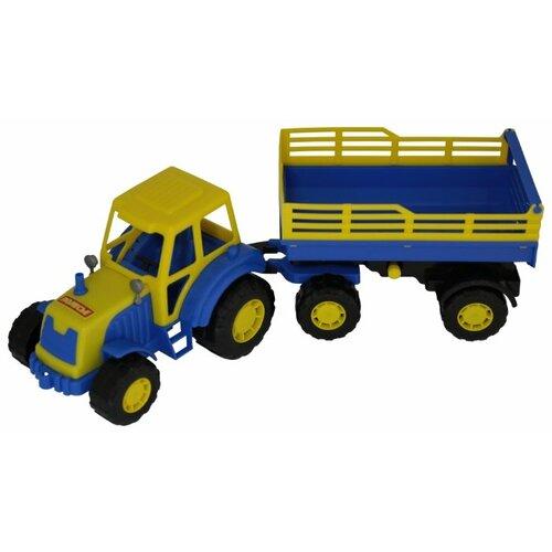 Фото - Трактор Полесье Мастер с полесье набор игрушек для песочницы 468 цвет в ассортименте