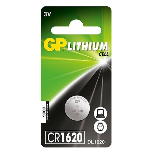 Фото - Батарейка GP Lithium Cell CR1620 батарейка gp lithium cr123a