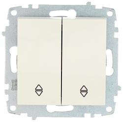 Выключатель 2х1-полюсный ABB Cosmo 619-010200-211,10А, белый