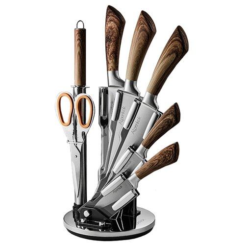 Набор Alpenkok 5 ножей ножницы набор ножей alpenkok ak 2093