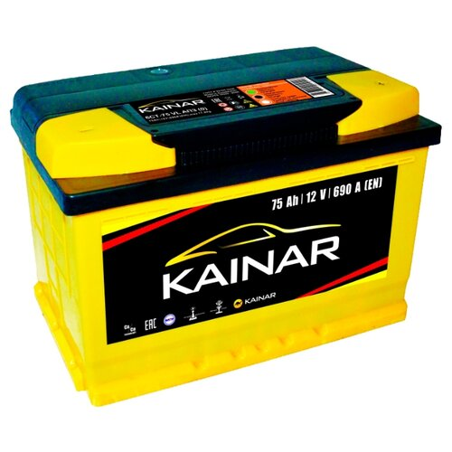 Фото - Аккумулятор Kainar 6СТ-75 VL аккумулятор катод extra start 6ст 62n l l2