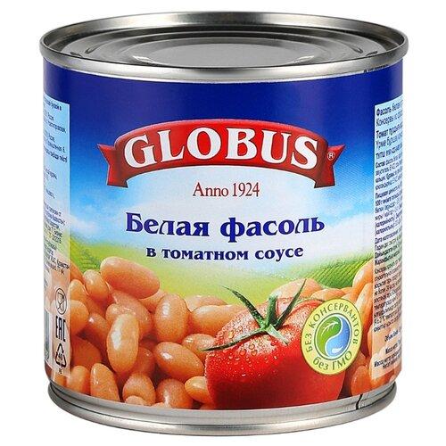 Фасоль Globus белая в томатном heinz фасоль в томатном соусе 415 г