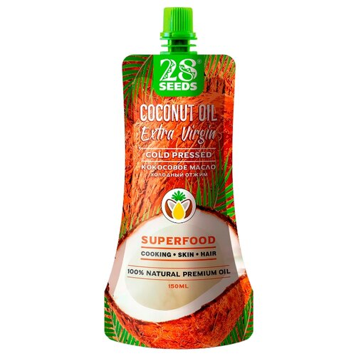 28 SEEDS Масло кокосовое Extra