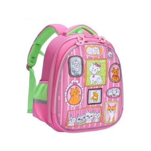 Ранец школьный Grizzly school bags grizzly 10521132 schoolbag backpack orthopedic bag for boy and girl animals flowers