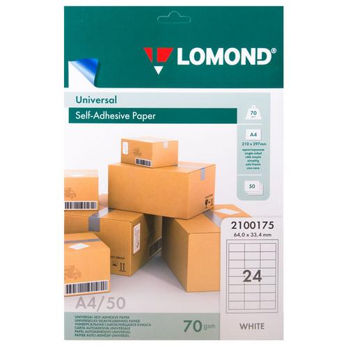 Фото - Бумага самоклеящаяся Lomond А4 пленка прозрачная lomond а4 100мик 10шт 210х297 прозрачная 0705411