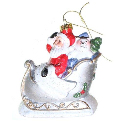 Елоччная игрушка Дед Мороз в фигурка новогодняя magic time дед мороз с елочкой