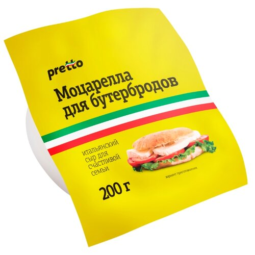 Сыр Pretto моцарелла мягкий 45% дар гор сыр мягкий адыгейский 45% 300 г