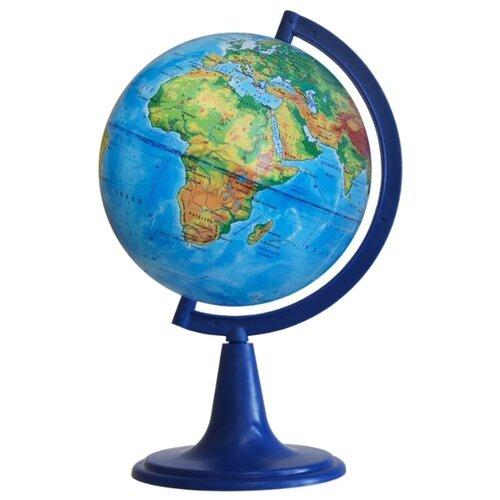 Глобус физический Глобусный мир глобус глобусный мир 10406 с физической картой мира с подставкой синий диаметр 64 см