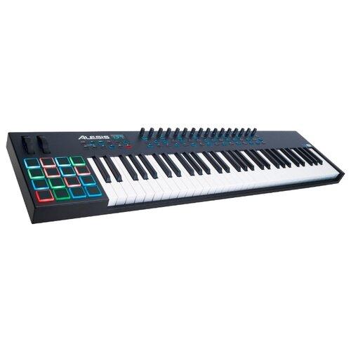 MIDI-клавиатура Alesis VI61 настольный барабан alesis samplepad pro