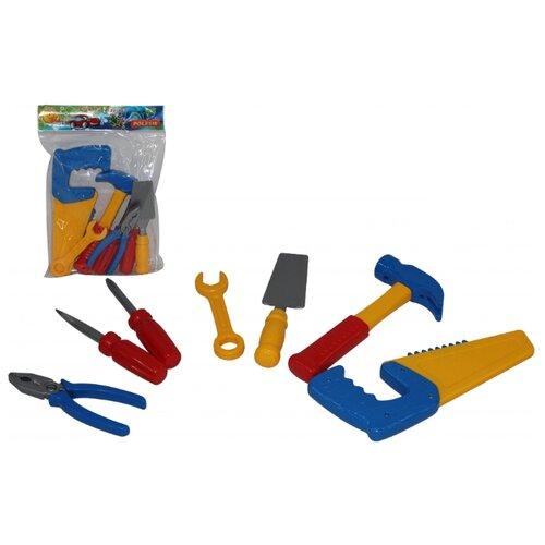 Фото - Полесье Набор инструментов №7 7 полесье набор игрушек для песочницы 468 цвет в ассортименте