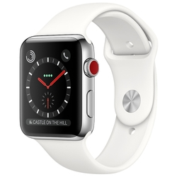 Часы Apple Watch Series 3 Cellular 42mm Stainless Steel Case with Sport Band