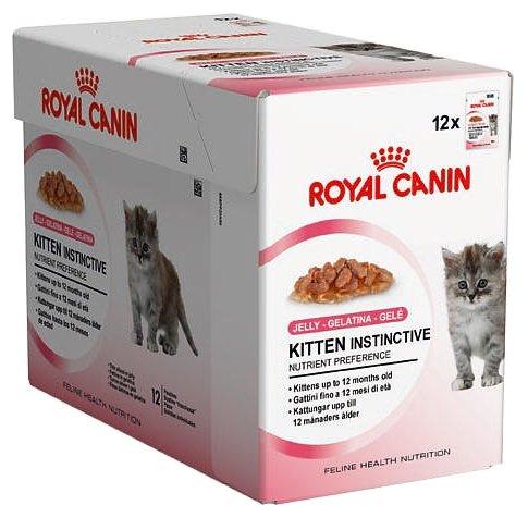 Корм royal canin kitten instinctive jelly