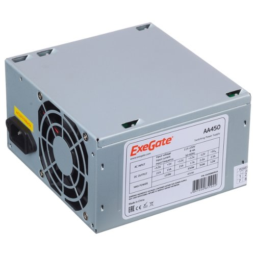 Блок питания ExeGate AA450 450W блок питания exegate atx aa450 450w 255751