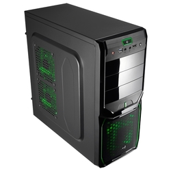 Компьютерный корпус AeroCool V3X Advance Evil Green Edition Black