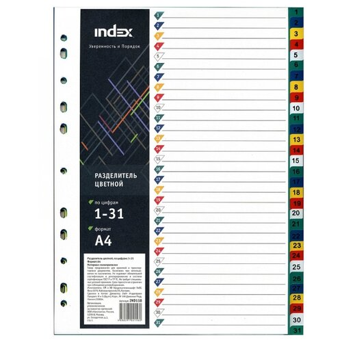 Index Разделитель картонный А4