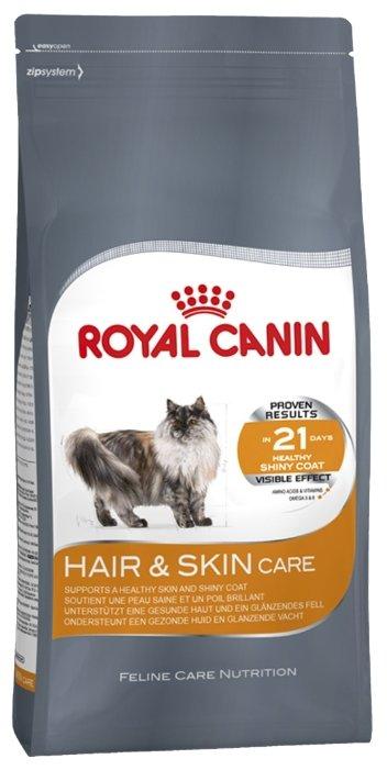 Корм royal canin hair skin 10