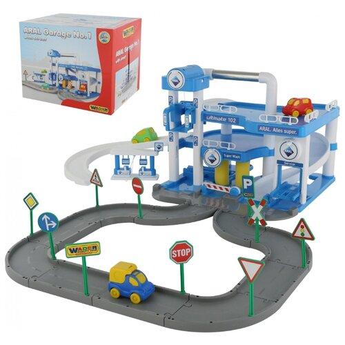 Фото - Трек Полесье Паркинг ARAL полесье набор игрушек для песочницы 468 цвет в ассортименте