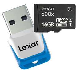 Карта памяти Lexar microSDHC Class 10 UHS Class 1 600x + USB 3.0 reader